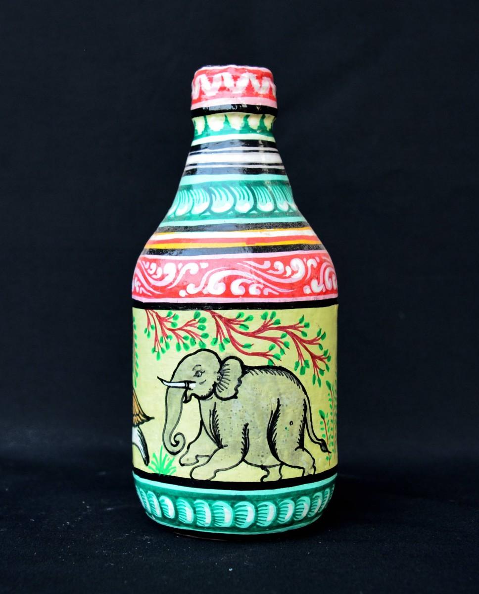 Bird Amp Animal Hand Painted Decorative Bottle