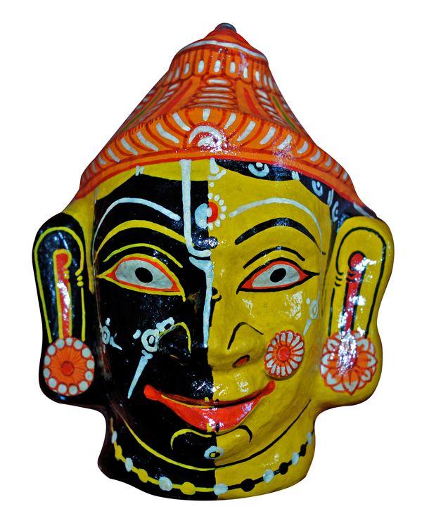 Radha Krishna – Paper Mache Mask Wall Hanging